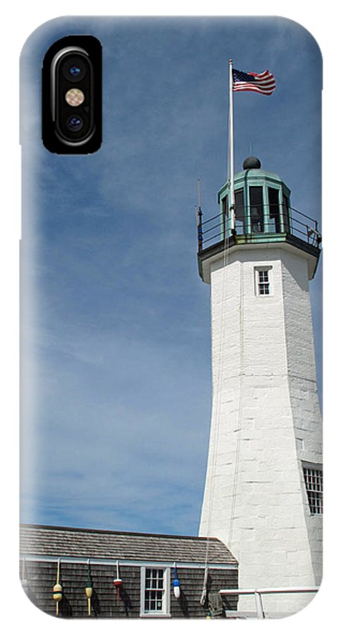 Lighthouse IPhone X Case featuring the photograph Scituate Light Four by Barbara McDevitt
