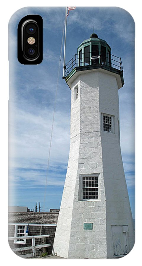 Lighthouse IPhone X Case featuring the photograph Scituate Light Three by Barbara McDevitt