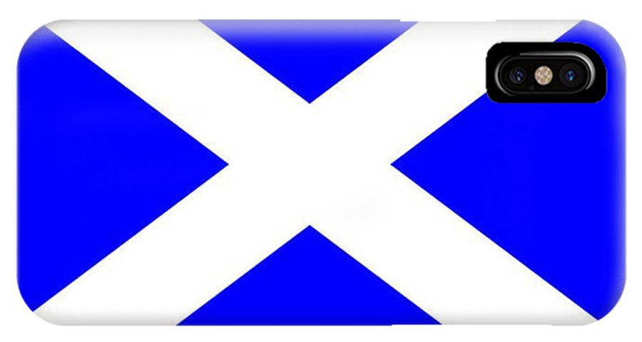 Scotland IPhone X Case featuring the digital art Scotland Flag by Frederick Holiday