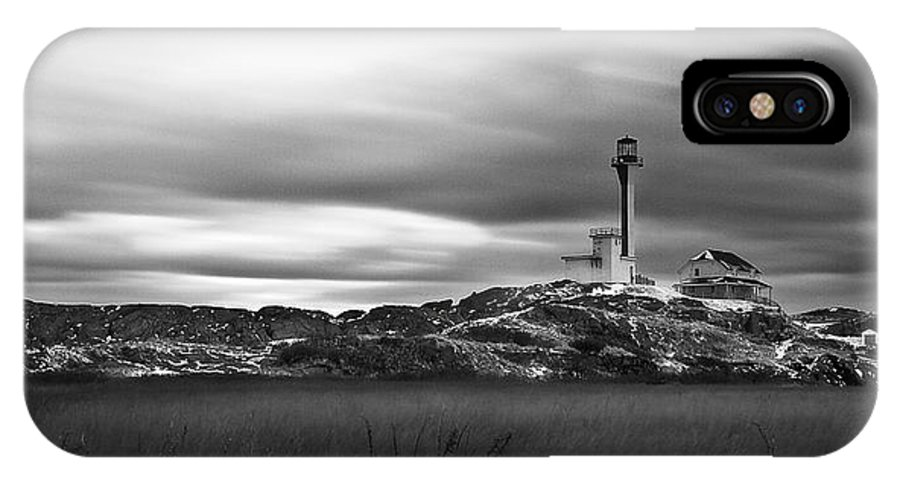 Cape Forchu IPhone X Case featuring the photograph Scrape The Sky by Keith Doucet