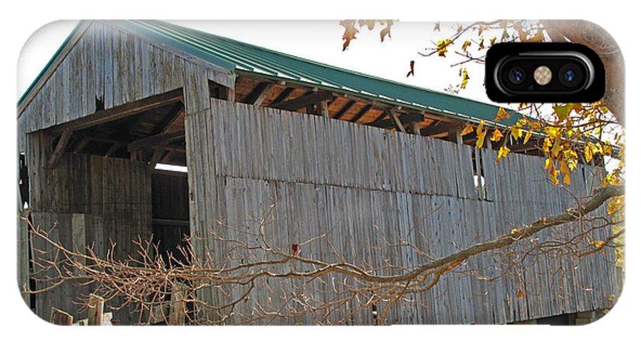 Wooden Bridge IPhone X Case featuring the photograph Scribner Bridge 2 by Barbara McDevitt