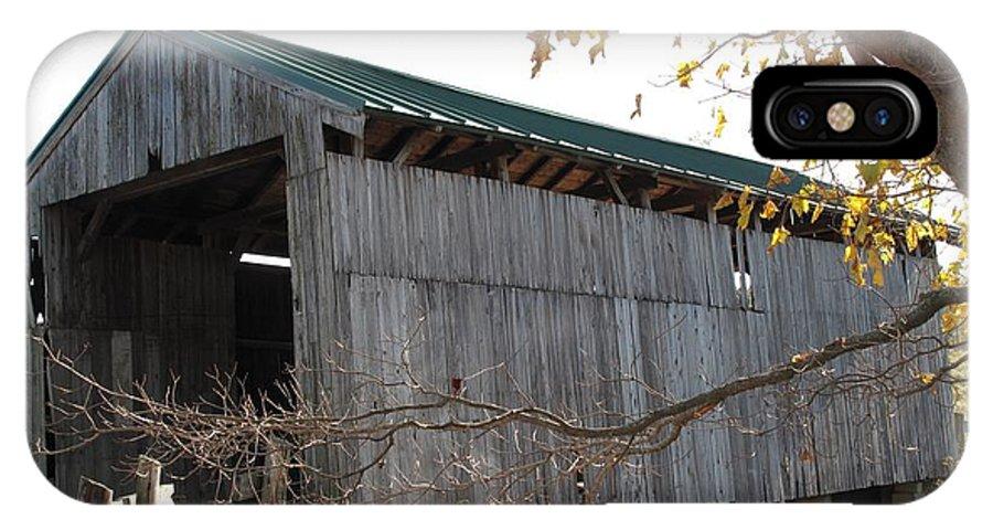 Covered Bridge IPhone X Case featuring the photograph Scribner Bridge Johnson Vermont by Barbara McDevitt