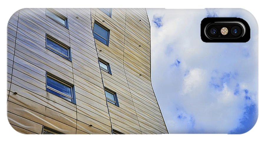 Sculpture IPhone X Case featuring the photograph Sculpture Or Building Or Both 2 by Allen Beatty