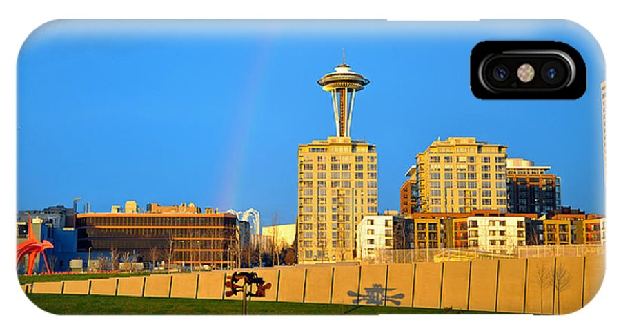 Seattle IPhone X / XS Case featuring the photograph Sculpture Park by David Dittmann