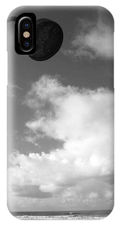 Abstract IPhone X Case featuring the photograph Sea And Shower by Simon Bird