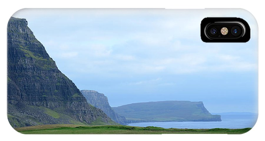 Neist Point IPhone X Case featuring the photograph Sea Cliffs At Neist Point In Scotland by DejaVu Designs