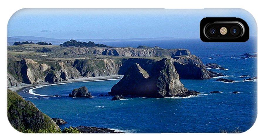 Sea IPhone X Case featuring the photograph Sea Coast Of Northern California by Douglas Barnett
