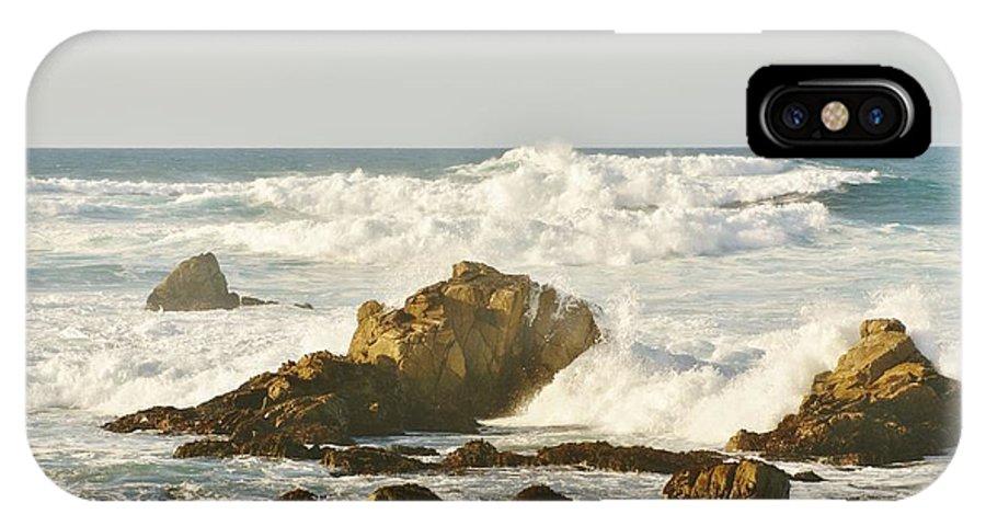 Sea Foam IPhone X Case featuring the digital art Sea Foam by Barbara Snyder