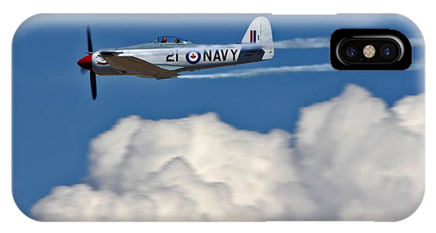 Aviation IPhone X / XS Case featuring the photograph Sea Fury Stripes by Chance Chenoweth