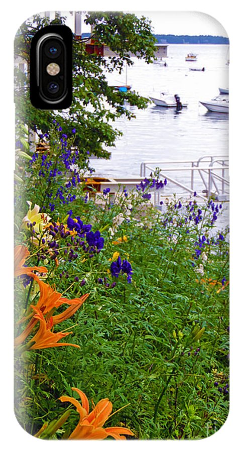 Harbor IPhone X Case featuring the photograph Sea Garden by Helene Guertin