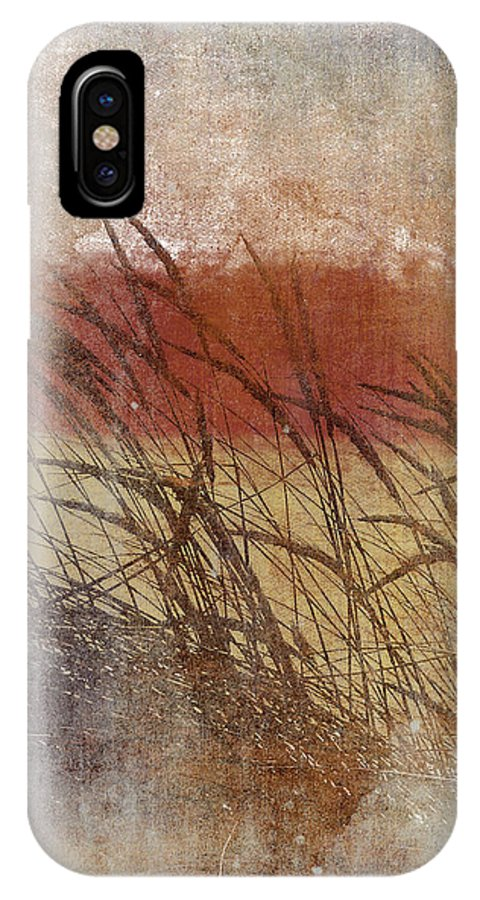 Sea Oats IPhone X Case featuring the digital art Sea Oats by Alan Dubrovo