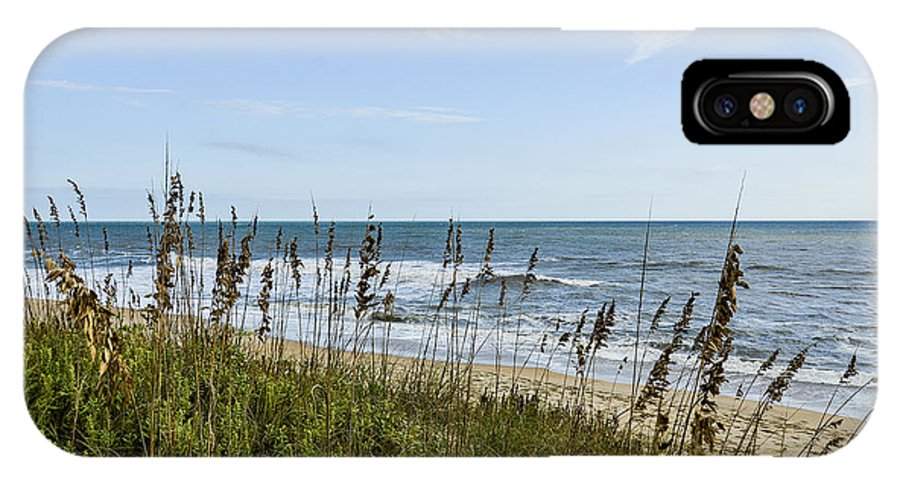 Sea IPhone X Case featuring the photograph Sea Oats Obx by Sandy Banks Photography