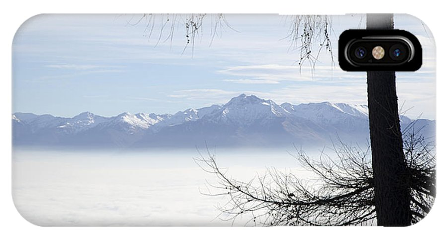 Sea Of Fog IPhone X Case featuring the photograph Sea Of Fog And A Tree by Mats Silvan