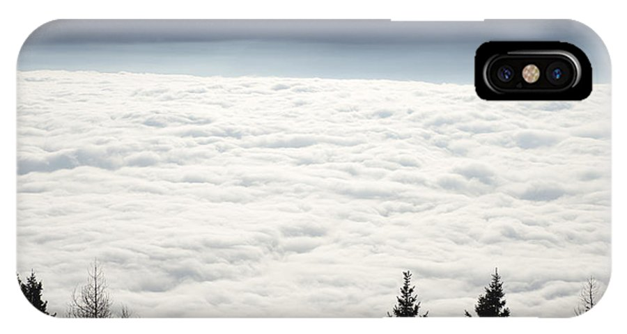 Sea Of Fog IPhone X Case featuring the photograph Sea Of Fog And Alps by Mats Silvan
