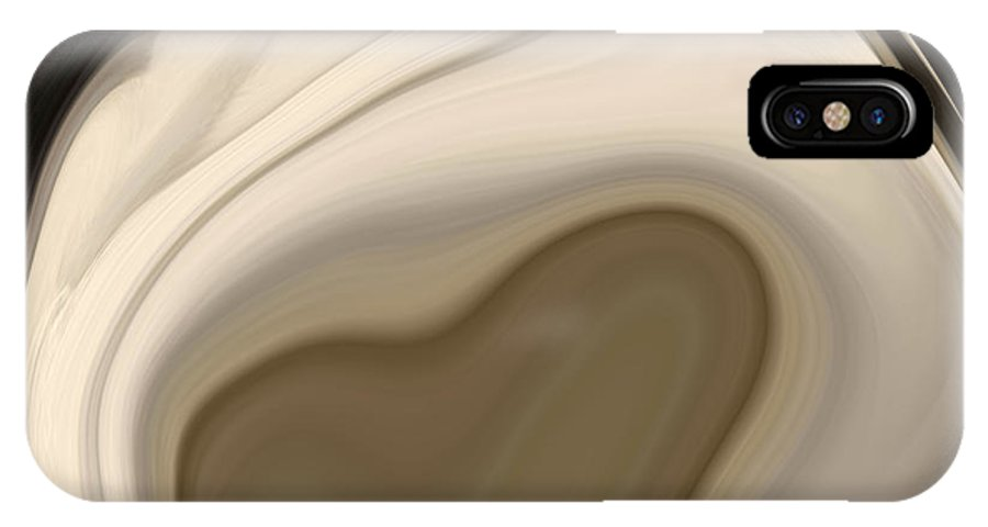 Shell IPhone X Case featuring the digital art Sea Shell No 2 by Chad Miller