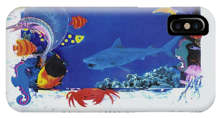 Sea IPhone X Case featuring the mixed media Sea Survival No Spills by Mary Ann Leitch