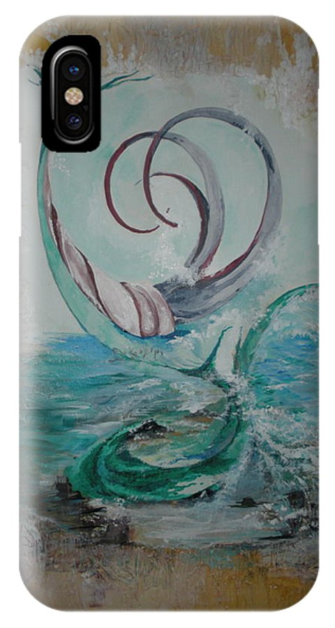 The Story Of What Can Be Found Under The Sea With The Imaginations Mindfulness. IPhone X Case featuring the painting Sea Treasures by Judy Sheade