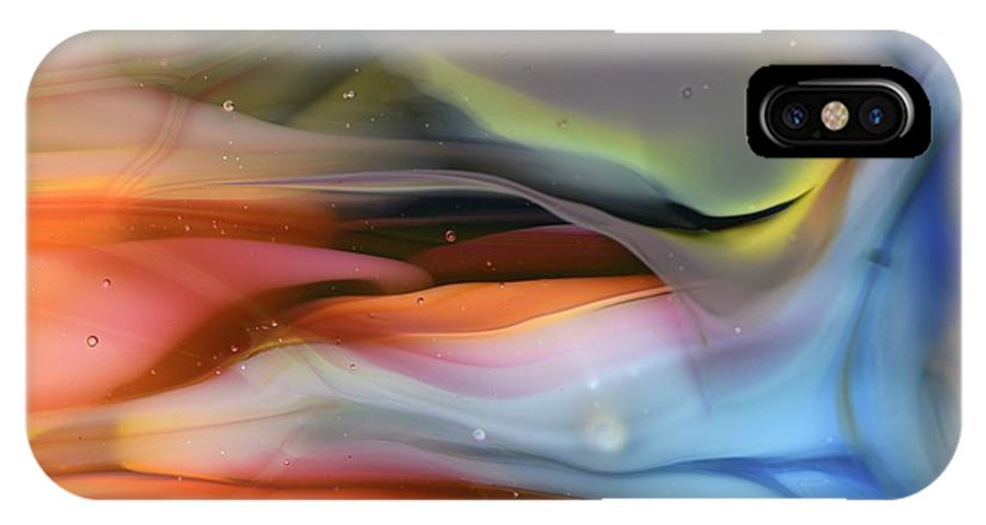 Abstract IPhone X Case featuring the photograph Sea...or Sky? by Kimberly Lyon