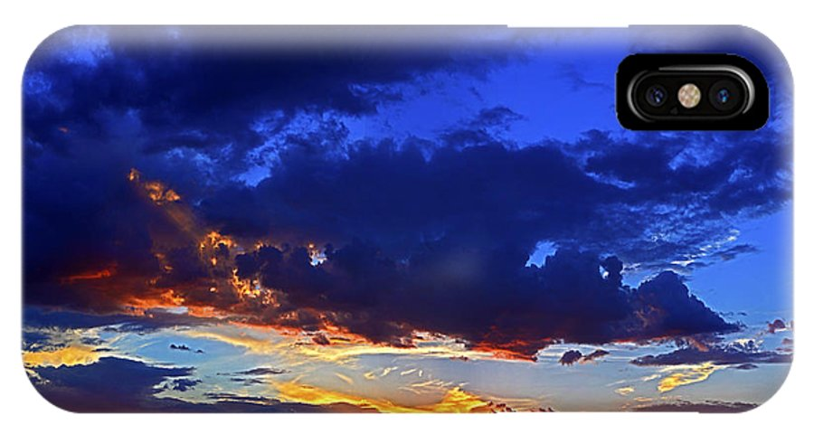 Sky IPhone X Case featuring the photograph Searching The Painted Sky by John Hall