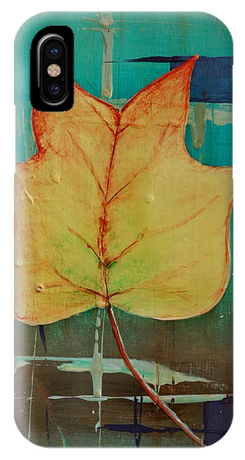 Contemporary Art IPhone X Case featuring the painting Season Of Change Piece 2 Of 2 by Gray Artus