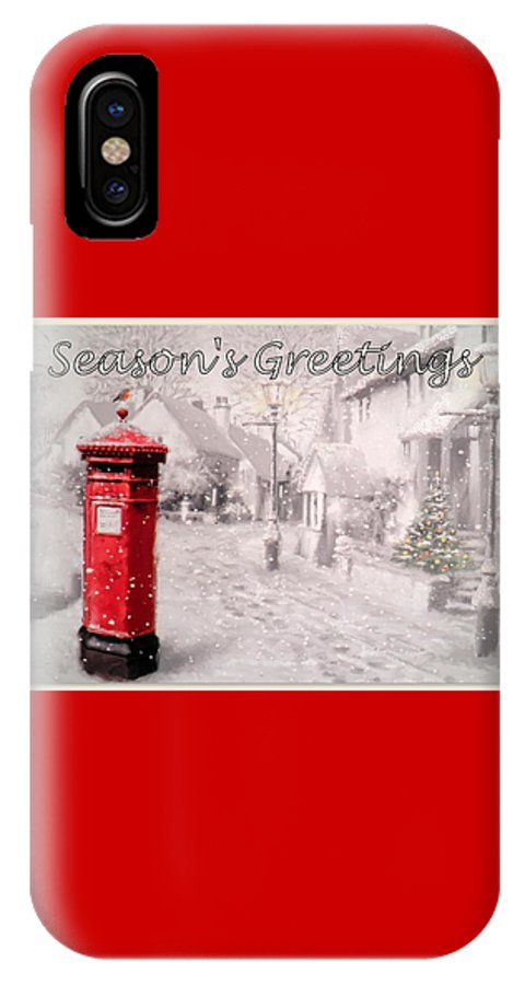 Postbox IPhone X Case featuring the digital art Season's Greetings by The Creative Minds Art and Photography