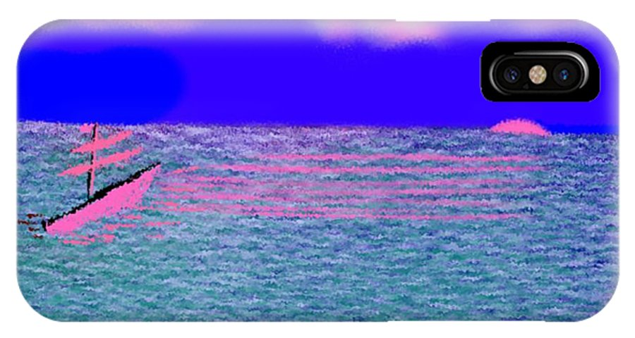 Early Evening IPhone X Case featuring the digital art Sea.sun by Dr Loifer Vladimir