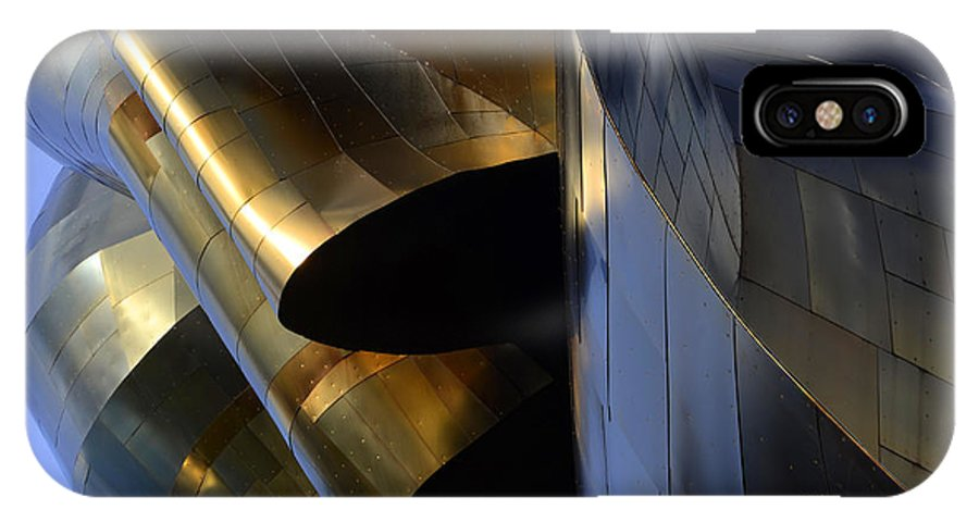 Emp Building IPhone X Case featuring the photograph Seattle Emp Building 1 by Bob Christopher