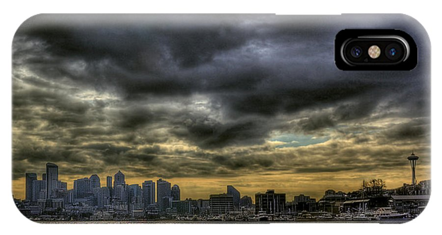 Seattle Skyline IPhone X Case featuring the photograph Seattle Skyline by David Patterson