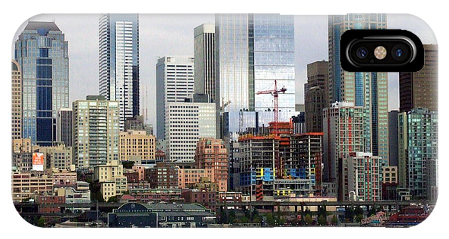 Seattle IPhone X Case featuring the photograph Seattle Skyline by Ron Roberts