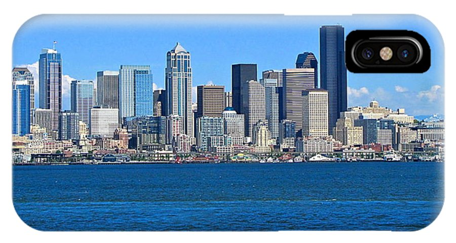 Photography IPhone X / XS Case featuring the photograph Seattle Skyline by Sean Griffin