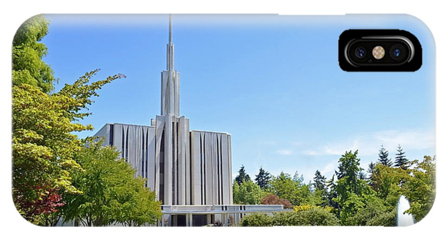 Seattle IPhone X Case featuring the photograph Seattle Temple - Horizontal by Shanna Hyatt