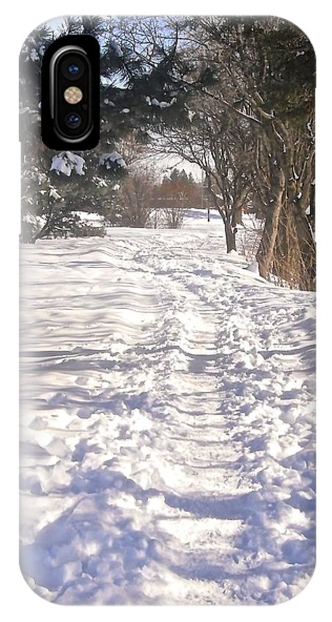 Snow IPhone X Case featuring the photograph Second Day Of Spring by Stephanie Moore