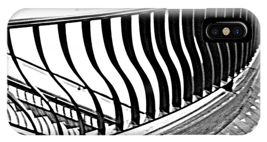 Stair IPhone X Case featuring the photograph Second Floor In Black And White by Pamela Hyde Wilson