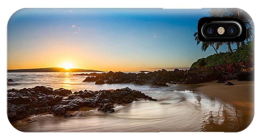 Secret Beach IPhone X Case featuring the photograph Secret Beach Sunset by Jamie Pham