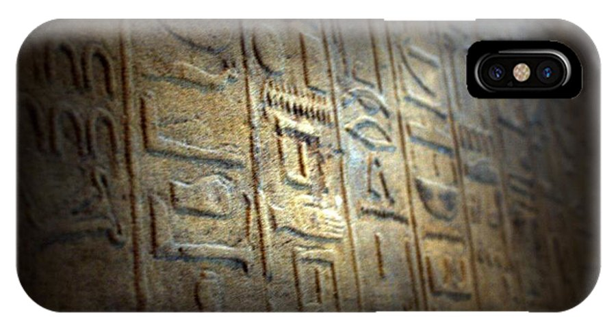 Egypt IPhone X Case featuring the photograph Secret Message by MAriO VAllejO