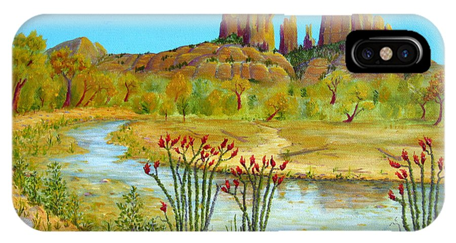 Sedona IPhone X Case featuring the painting Sedona Arizona by Jerome Stumphauzer