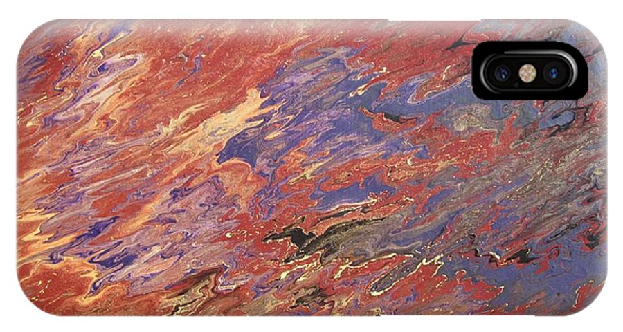Fusionart IPhone X Case featuring the painting Sedona by Ralph White