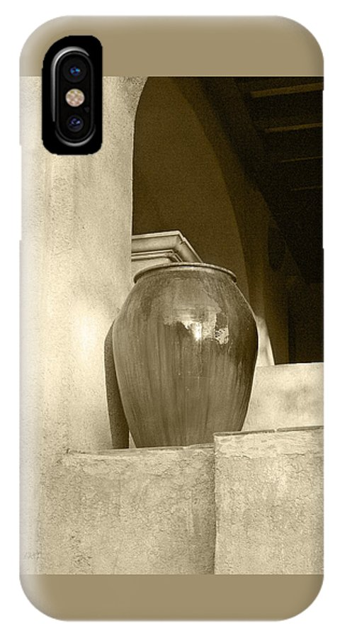 Architecture IPhone X Case featuring the photograph Sedona Series - Jug In Sepia by Ben and Raisa Gertsberg
