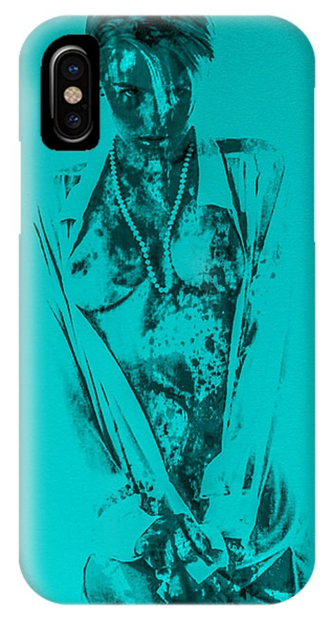 Model IPhone X Case featuring the painting Seductive One by Brian Reaves