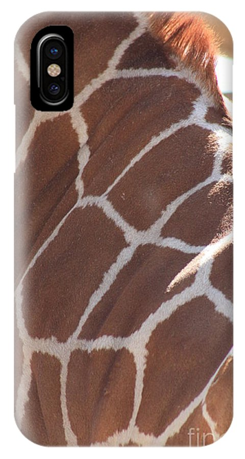 Giraffe IPhone X Case featuring the photograph Seeing Spots by Brandi Maher