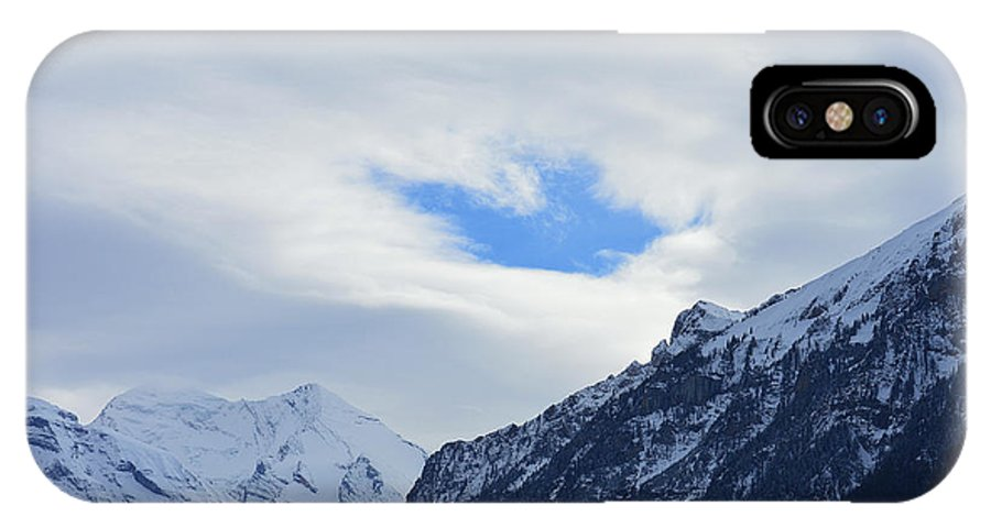 Alps IPhone X Case featuring the photograph Seeing Through by Felicia Tica