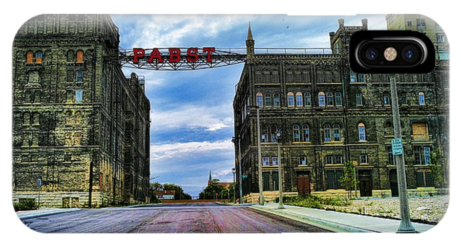 Pabst IPhone X Case featuring the photograph Seen Better Days Old Pabst Brewery Home Of Blue Ribbon Beer Since 1860 Now Derelict by Lawrence Christopher