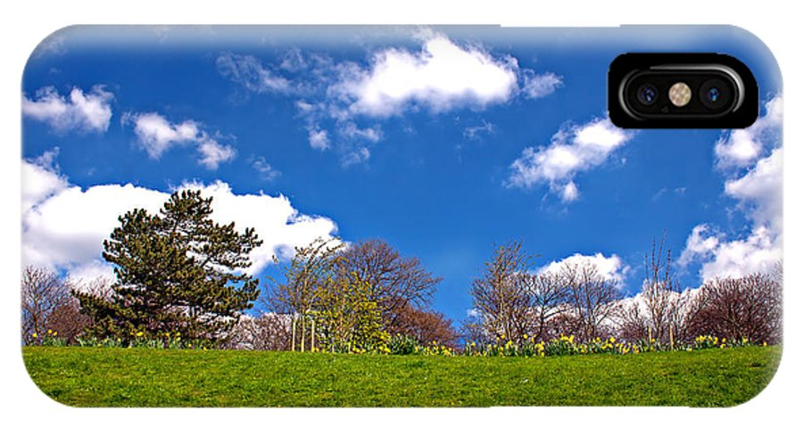 Green IPhone X Case featuring the photograph Sefton Park Liverpool In Spring Time by Ken Biggs