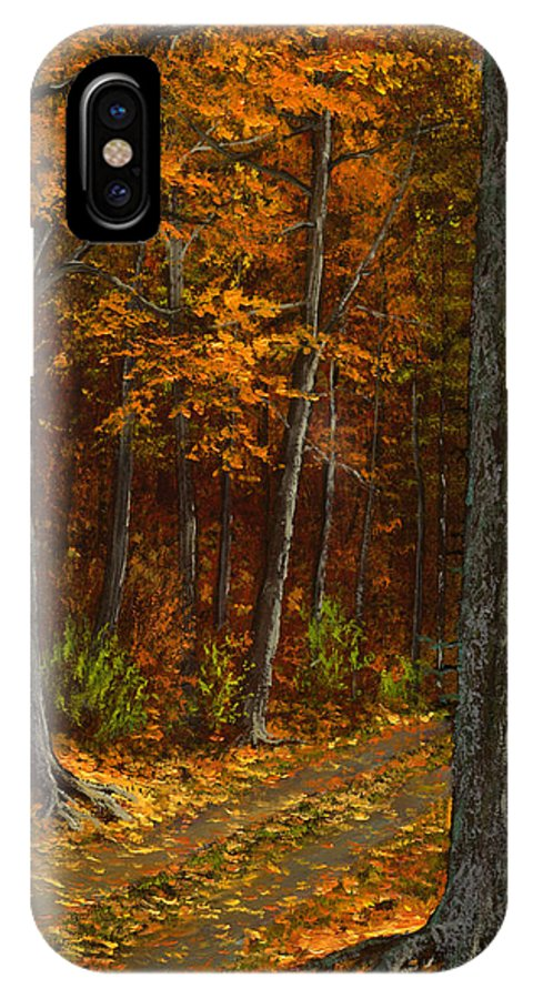 Landscape IPhone X Case featuring the painting Seldom Used by Frank Wilson