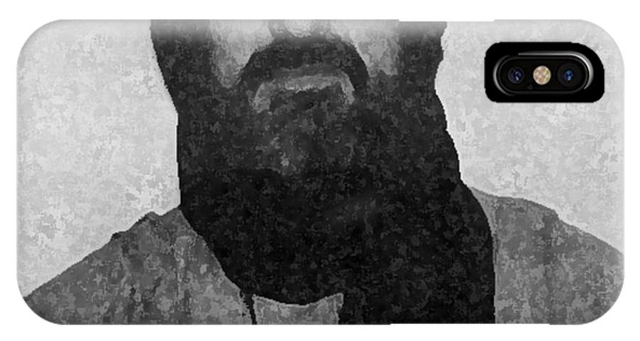 Tuareg IPhone X Case featuring the painting Self Portrait As Tuareg by Anthony Dalton