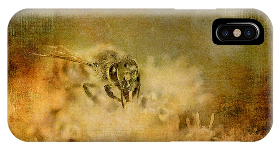 Bee IPhone X Case featuring the photograph Send The Bees Love by Lois Bryan