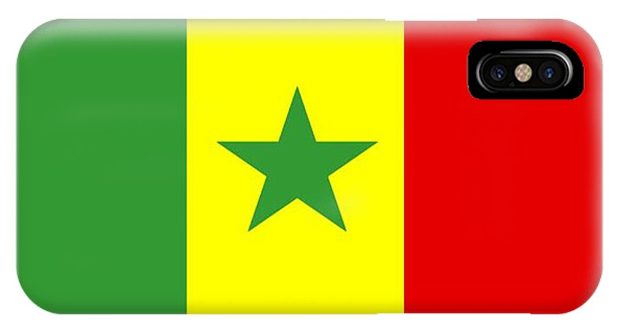 Senegal IPhone X Case featuring the digital art Senegal Flag by Frederick Holiday