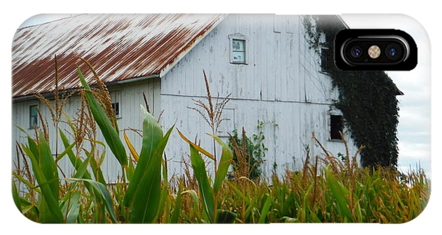 September Corn Barn IPhone X Case featuring the photograph September Corn Barn by Paddy Shaffer