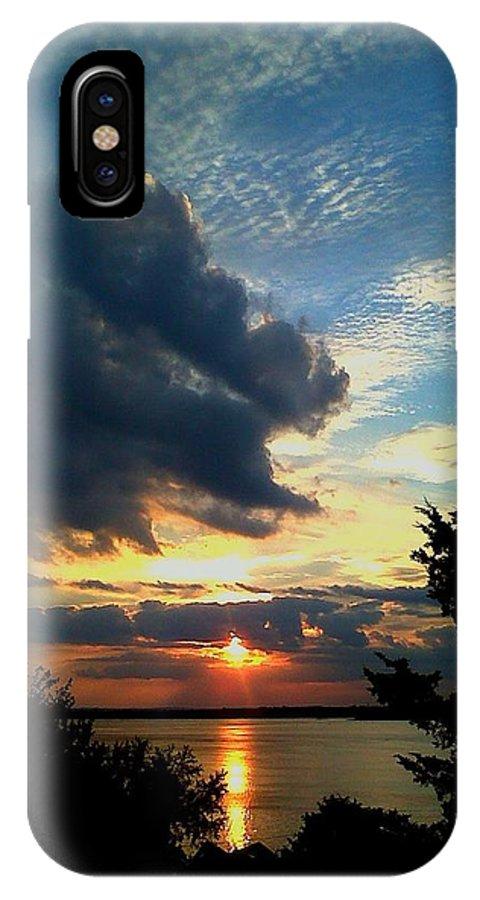 Sunset IPhone X Case featuring the photograph September Sunset by Rachel Kaufmann