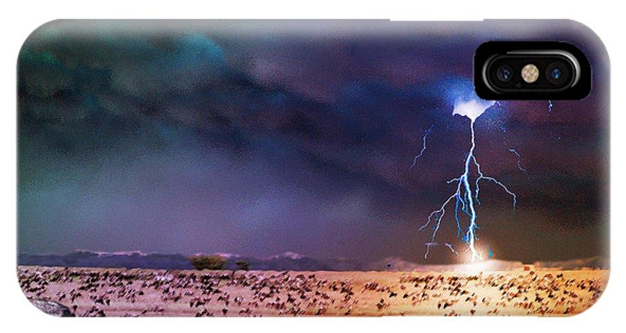 IPhone X Case featuring the digital art Serengeti Storm by Michael Pittas